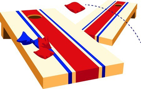 Corn hole upcoming events cornhole tournament downtown lawrenceburg clipart