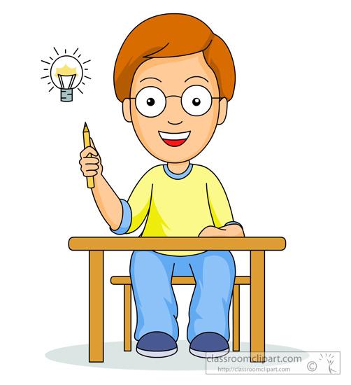 Student thinking clipart biezumd 2