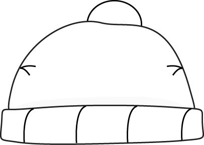 Winter hat clipart black and white free