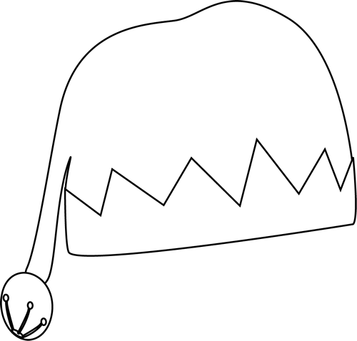 Winter hat hat clipart black and white