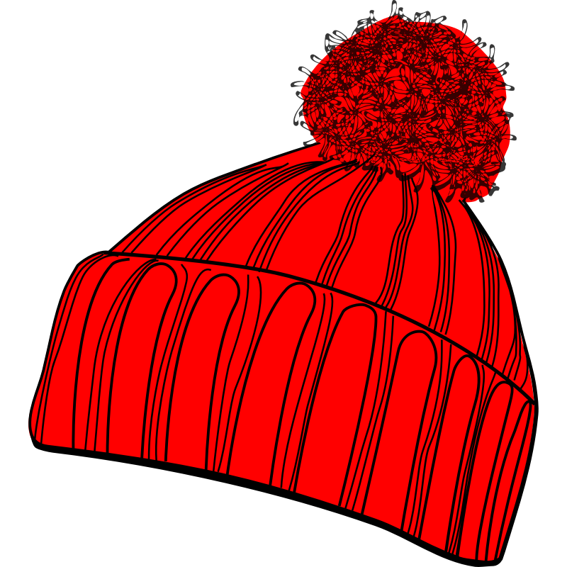 Winter hat stocking hat clipart collection