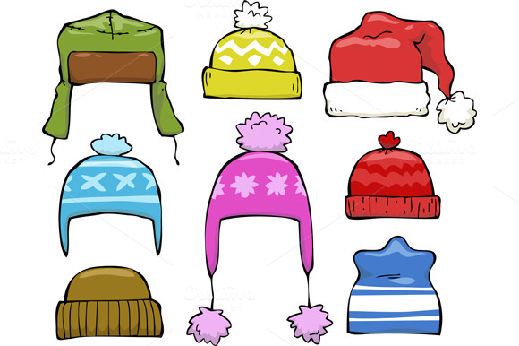 Winter hat top winter clipart and illustration deals on the market
