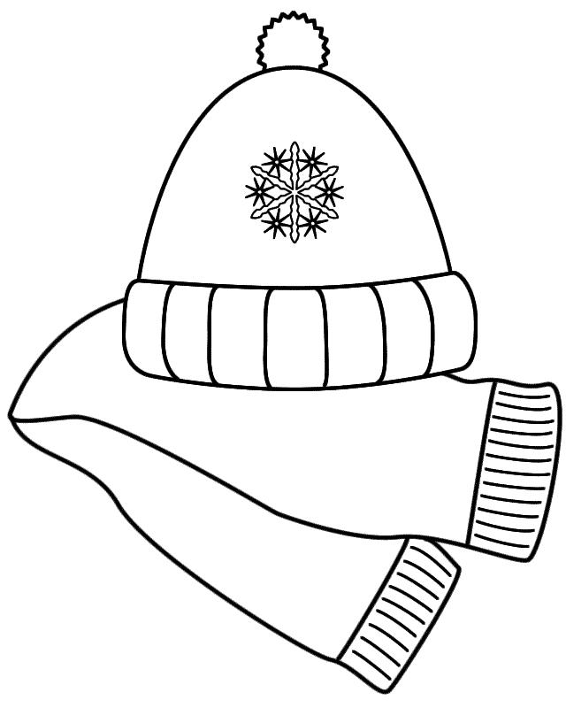 Winter hat winter scarf clip art