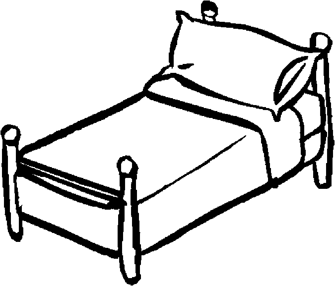 Bed  black and white bed black and white clip art images download