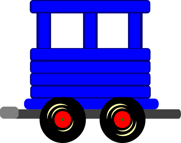 Caboose loco train carriage clip art at vector clip art