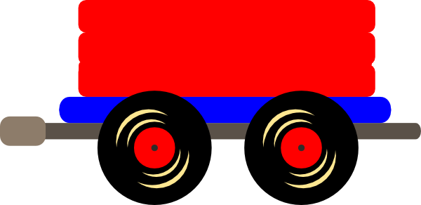 Caboose loco train clip art at vector clip art
