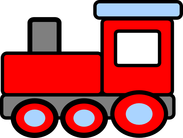 Caboose toy trains clipart free images