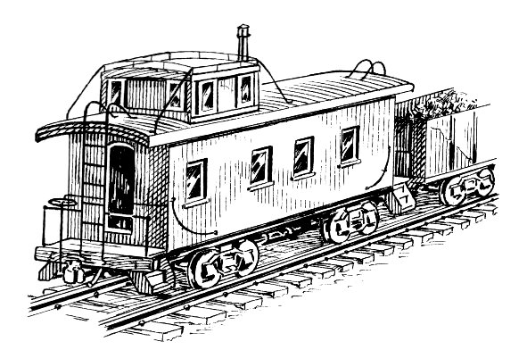 Caboose train 2 clip art download