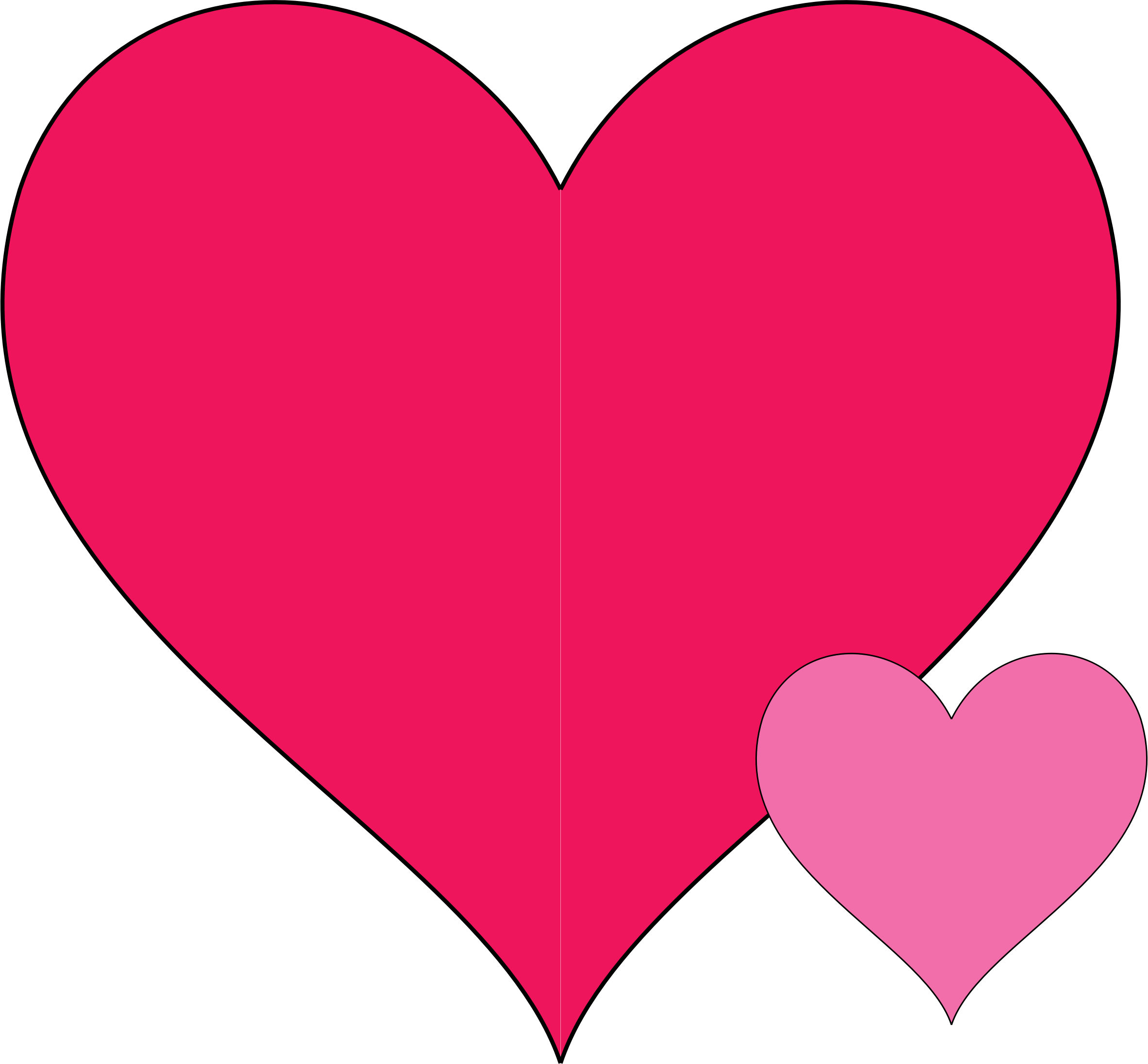 Clipart double hearts doodle