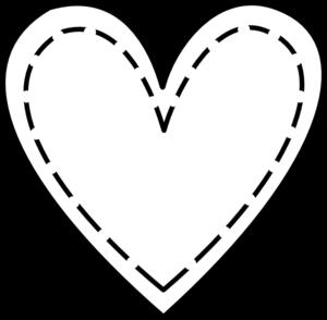 Double heart clip art heart outline free clipart images