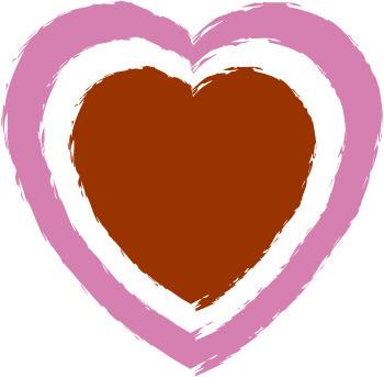 Double heart printable double border heart clip art