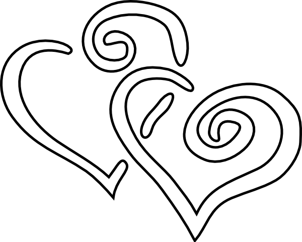 Double heart white heart clip art vector free clipart images