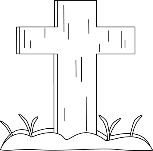 Grass  black and white black and white easter cross in the grass clip art