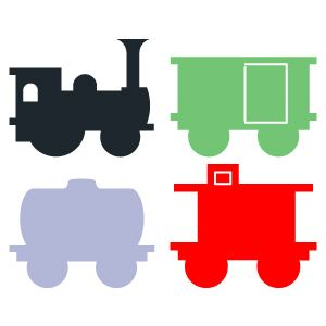 Little red caboose clip art