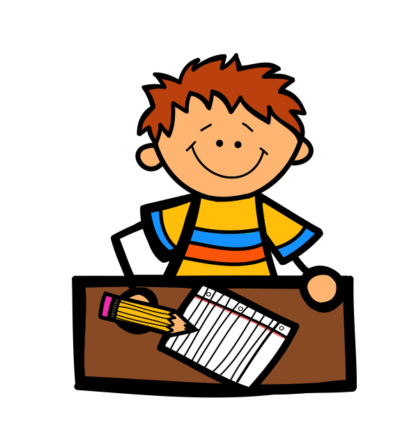 Student working clipart 2