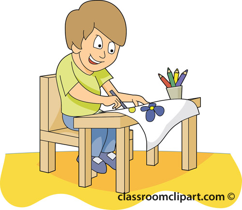 Student working clipart bay