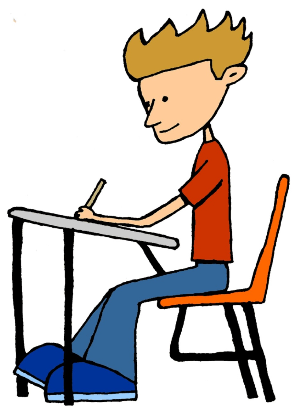 Student working office of curriculum clipart