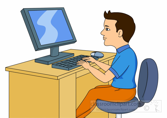 Student working student atputer clipart clipartxtras