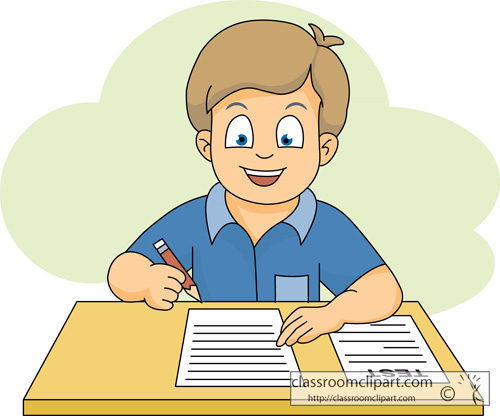 Student working student exam clipart