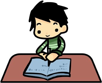 Student working student writing clip art free