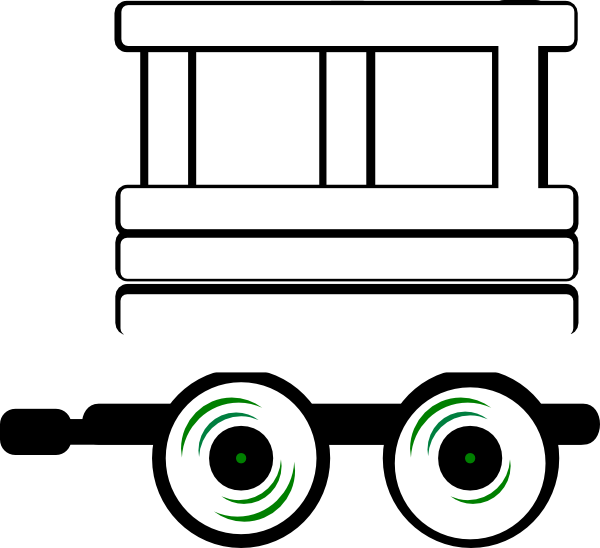 Train caboose clipart black and white cliparts others art