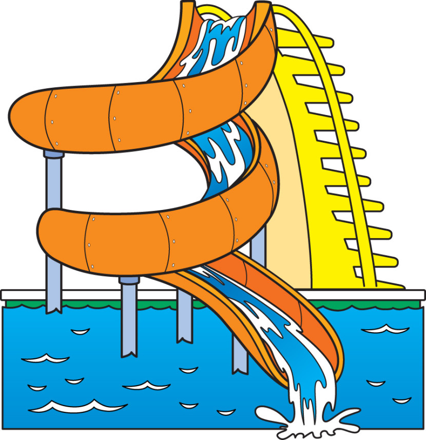 Water slide clip art 2
