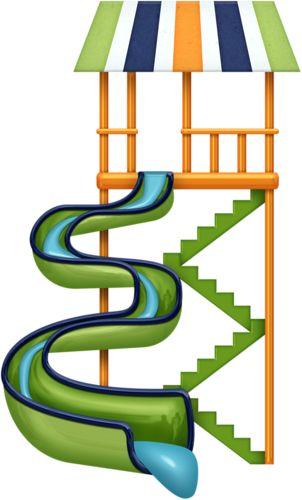 Water slide clip art summer clipart