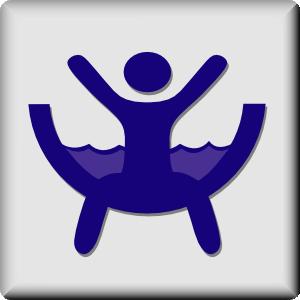 Water slide hotel icon waterslide clip art free vector 4vector