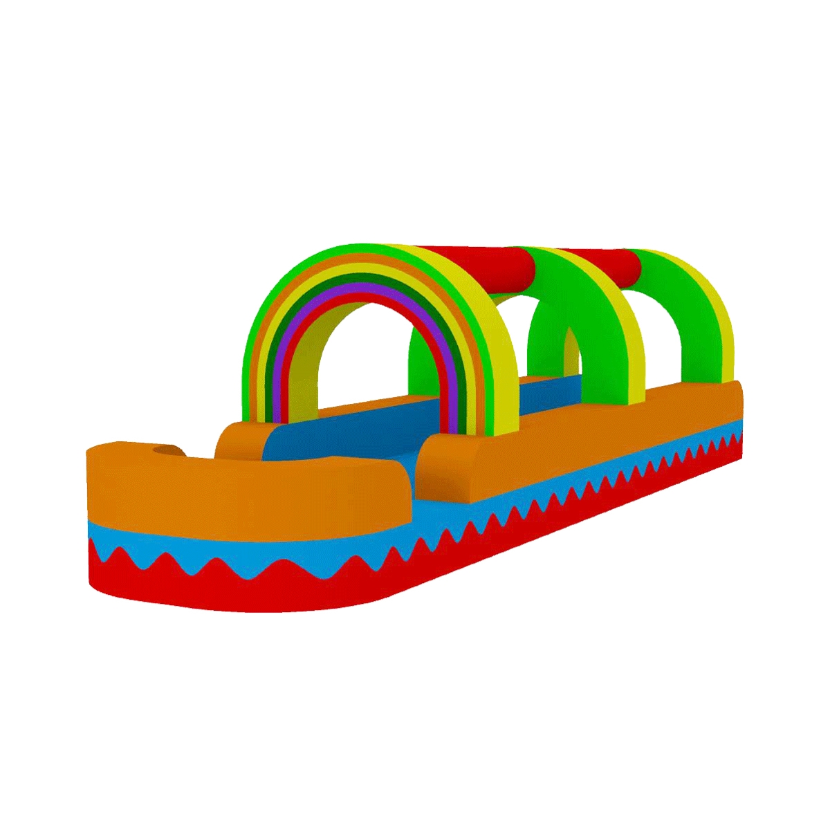 Water slide rainbow bouncer jumper bounce house castle water clipart