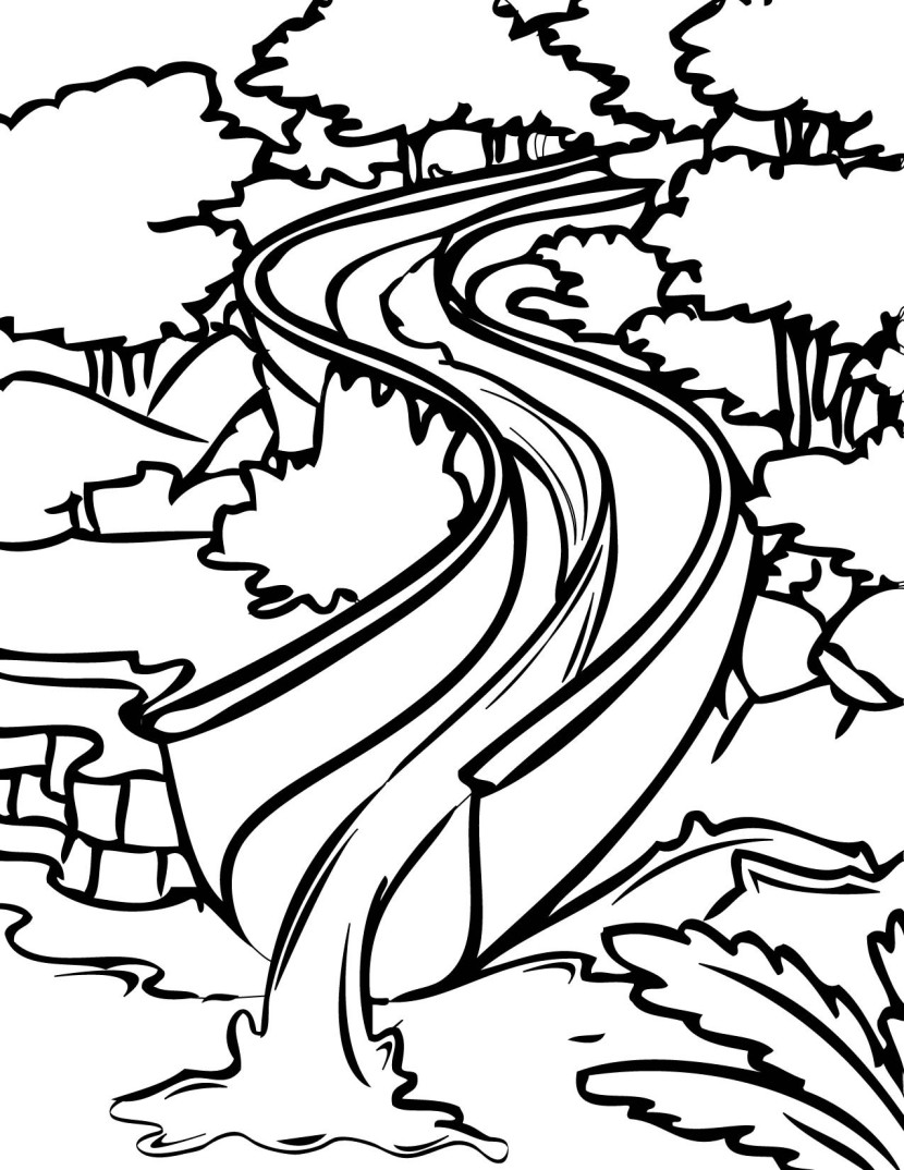 Water slide water black and white slide clipart collection