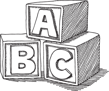 Abc blocks clipart black and whit clip art library