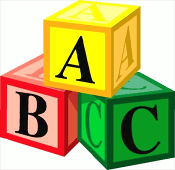 Abc blocks clipart black and white free 3