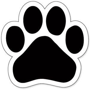 Dog paw prints bulldog paw print clipart 5