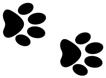 Dog paw prints clipart dog paw print clipart 2 image 2