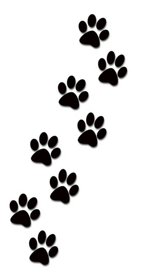Dog paw prints clipart dog paw print clipart 2 image