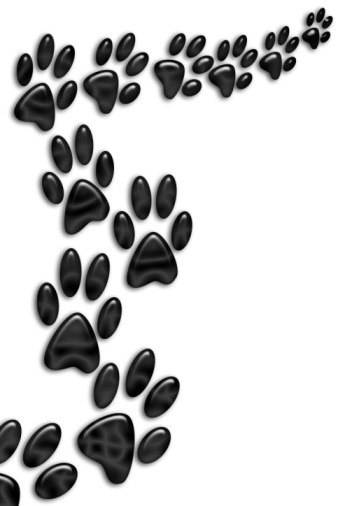 Dog paw prints dog paw print clip art free clipart image 2