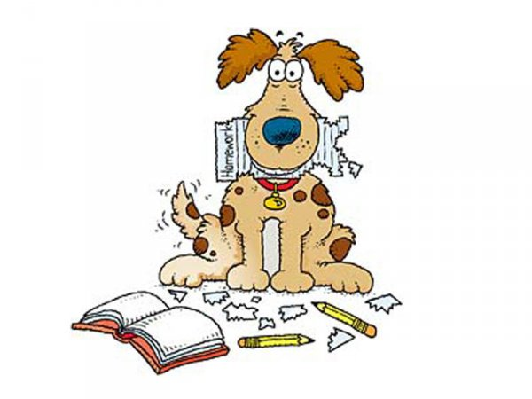 Doing homework dog ate my homework clipart wikiclipart