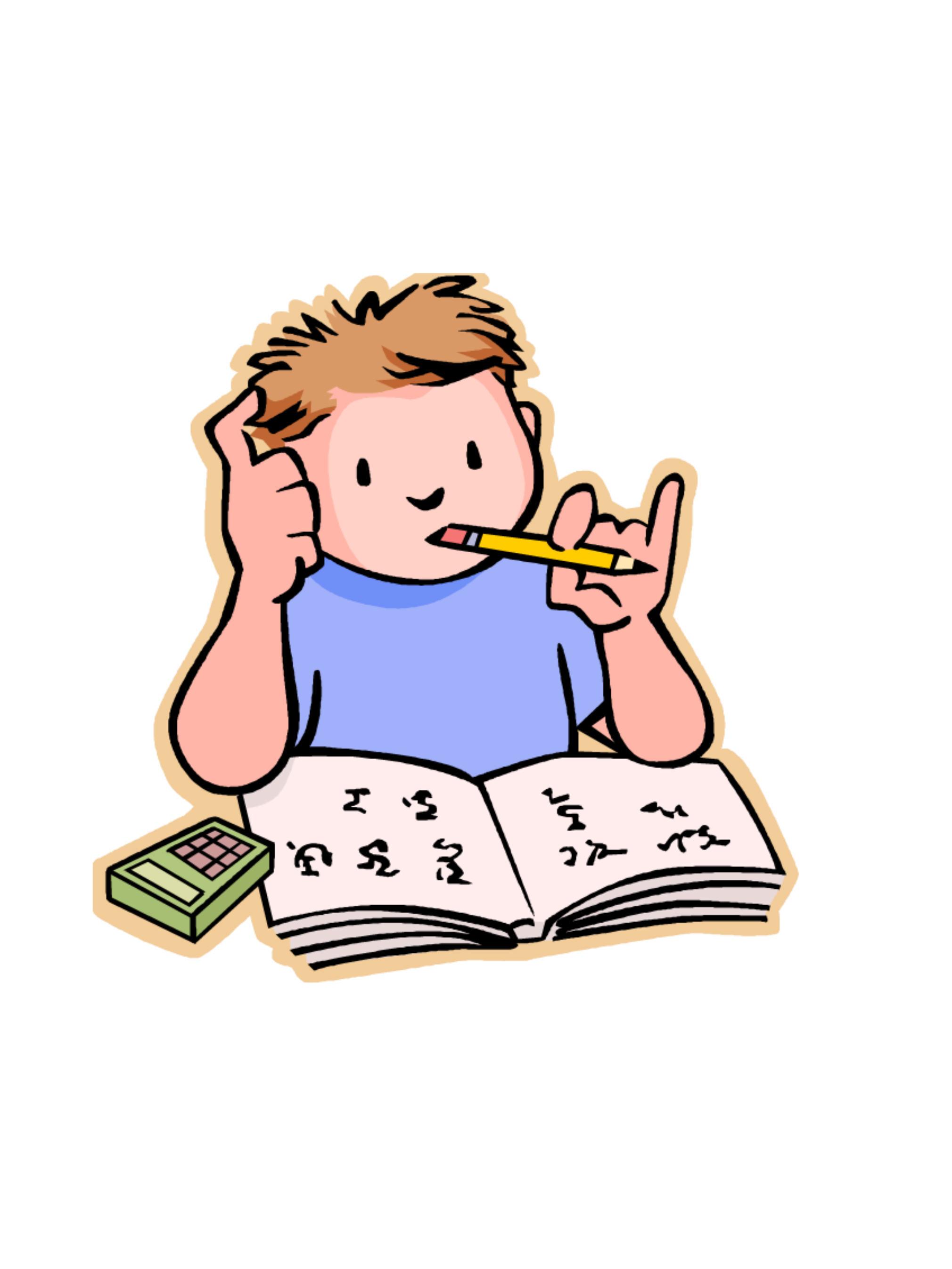 Doing homework homework clipart free clip art images