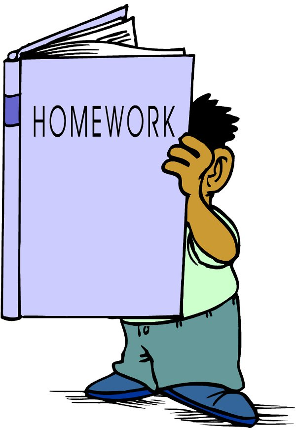 Doing homework read book homework clipart cliparts and others art inspiration
