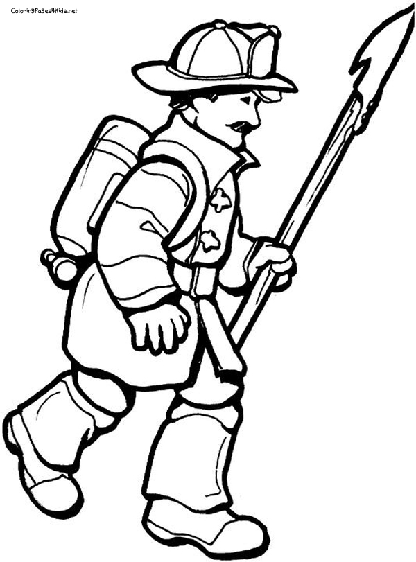 Firefighter  black and white cartoon fire fighter free download clip art on