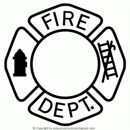 Firefighter  black and white clipart fullpage color