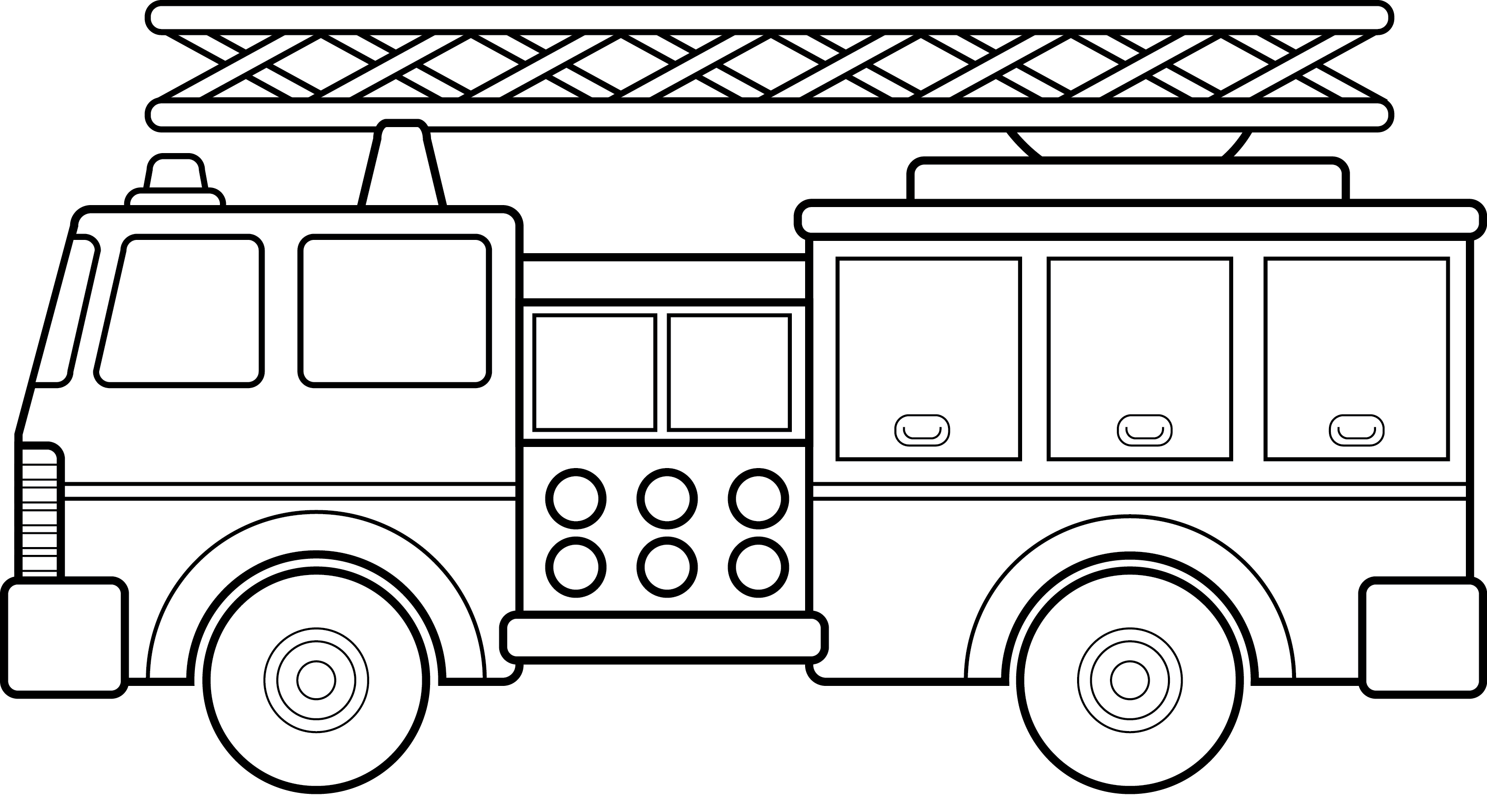 Firefighter  black and white fire truck clipart black and white free