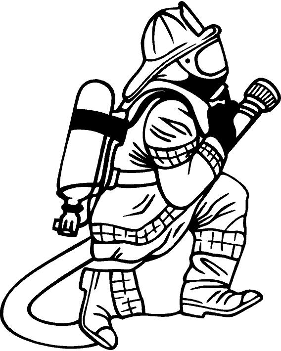 Firefighter  black and white firefighter clipart fans