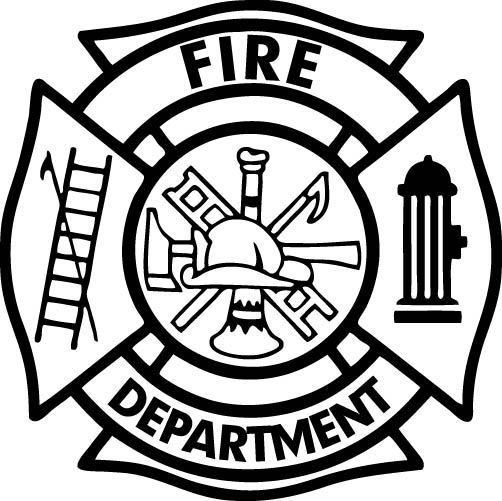 Firefighter  black and white firefighter clipart symbol pencil and in color firefighter