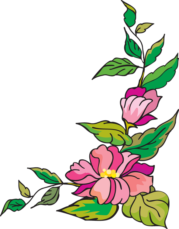 Flower corner border clip art free clipart images
