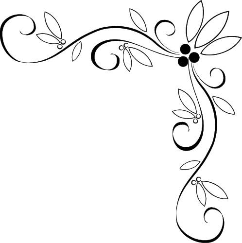 Free page border designs fancy vine corner border design image clipart