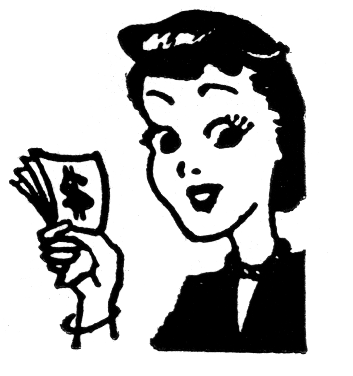 No money woman with money clipart clipartxtras