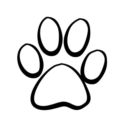 Dog Paw Prints Clip Art