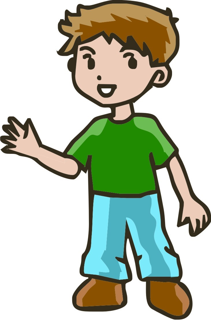 People happy person clipart