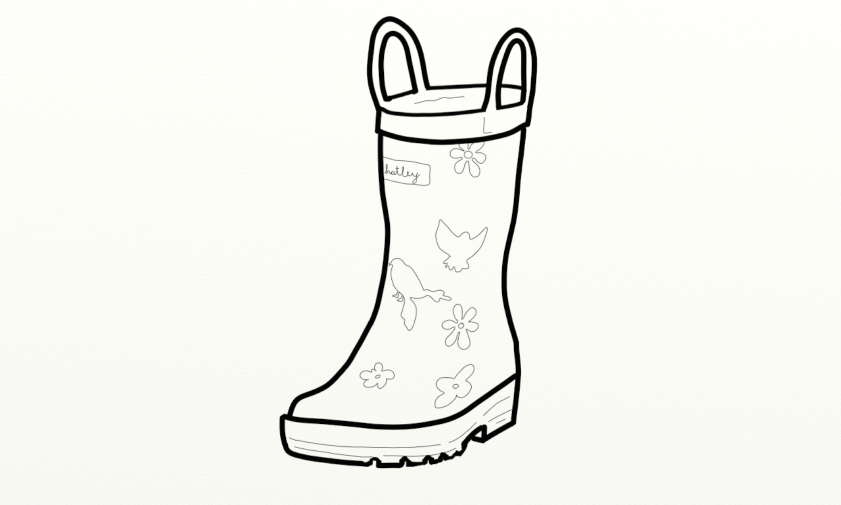 Rain boots the boot kidz girl'wellington boots girl'wellies clip art